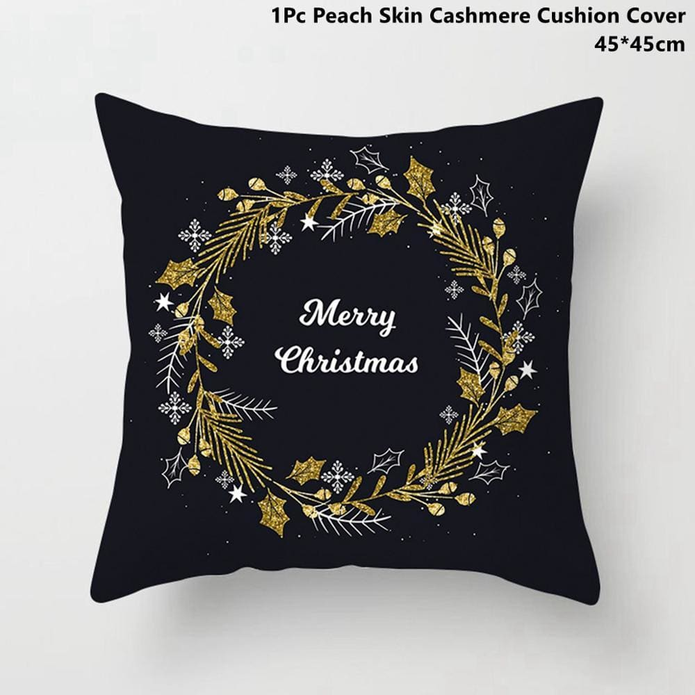 Gold black pillowcase - xmas 15 - 200223143 fast shipping