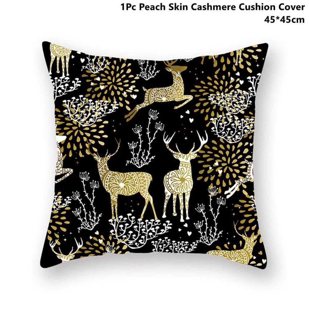 Gold black pillowcase - xmas 17 - 200223143 fast shipping