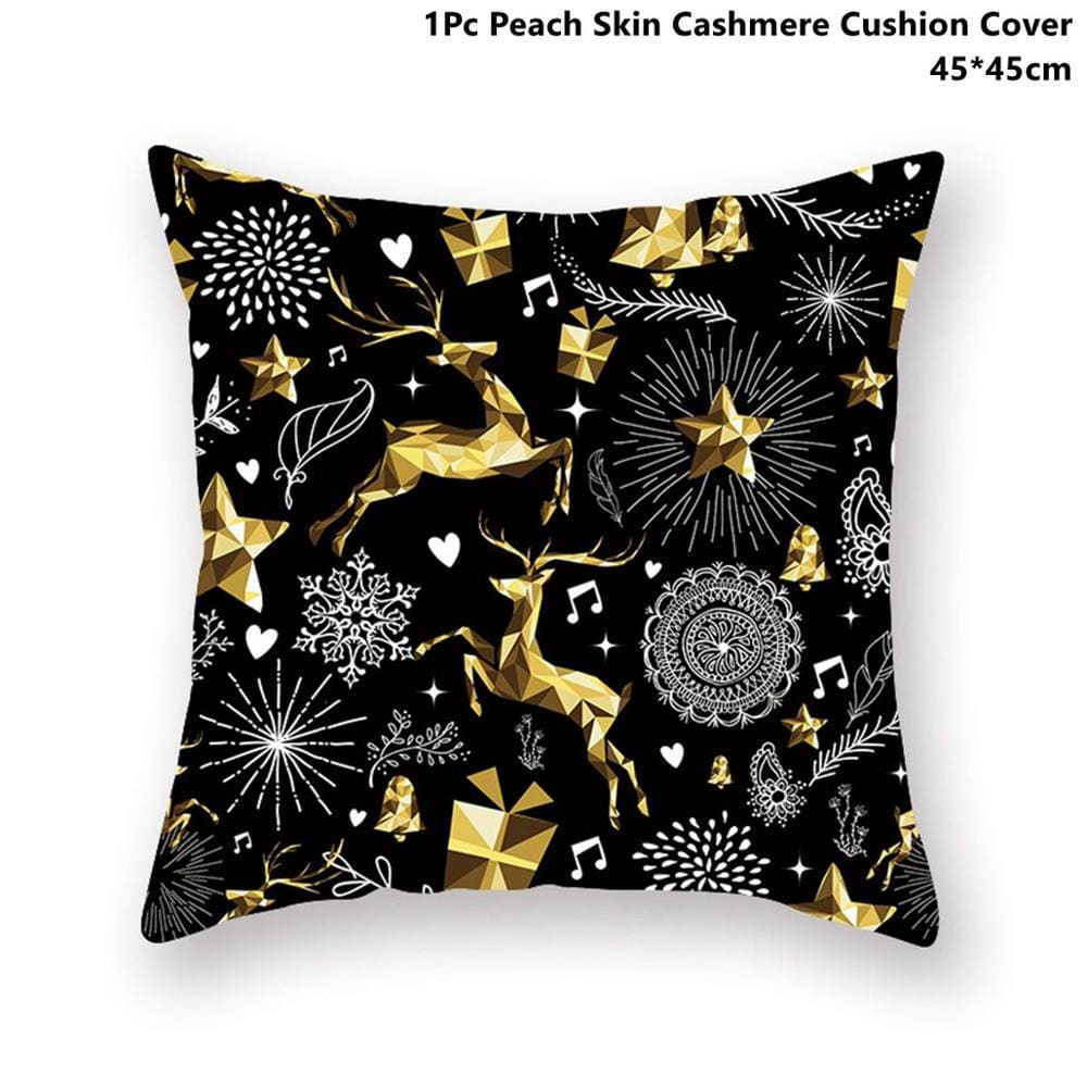 Gold black pillowcase - xmas 18 - 200223143 fast shipping