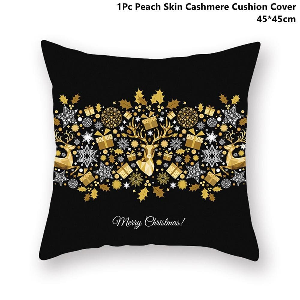 Gold black pillowcase - xmas 19 - 200223143 fast shipping