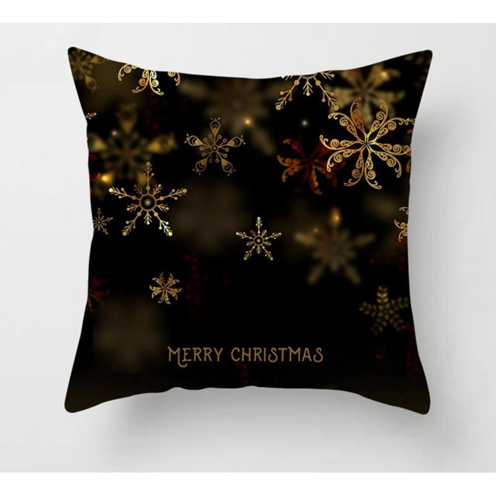 Gold black pillowcase - xmas 2 - 200223143 fast shipping