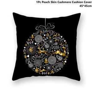 Gold black pillowcase - xmas 22 - 200223143 fast shipping