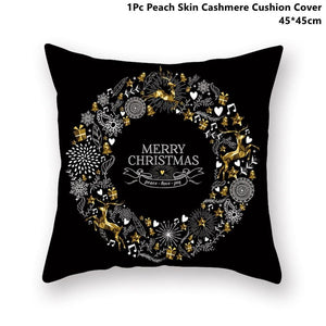 Gold black pillowcase - xmas 23 - 200223143 fast shipping