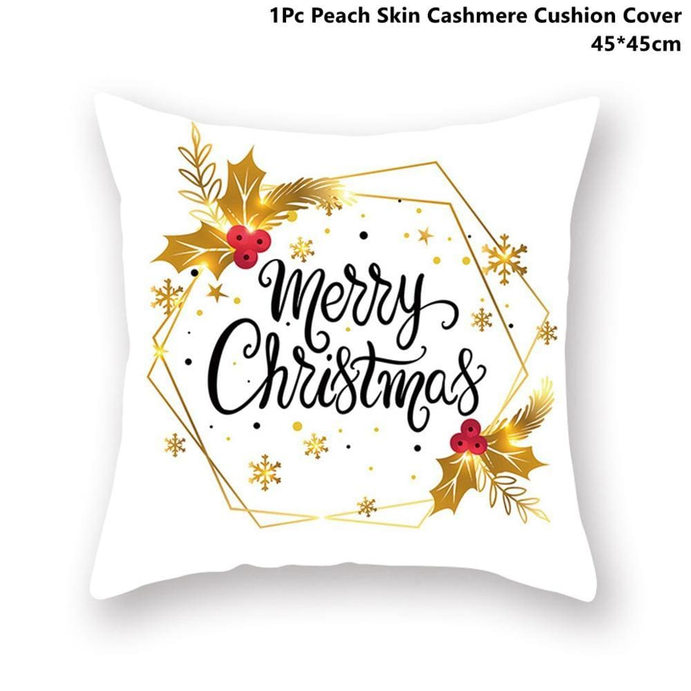 Gold black pillowcase - xmas 27 - 200223143 fast shipping