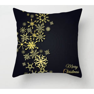Gold black pillowcase - xmas 3 - 200223143 fast shipping