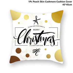 Gold black pillowcase - xmas 33 - 200223143 fast shipping