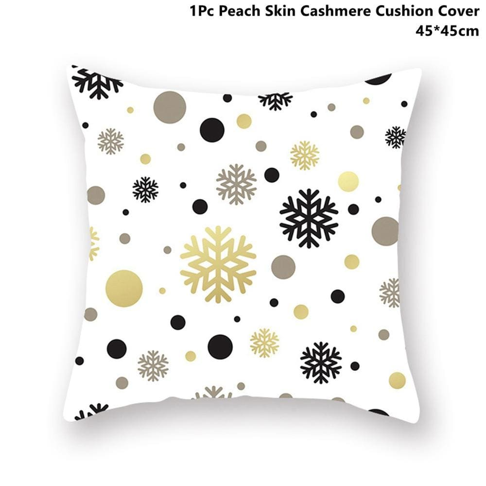 Gold black pillowcase - xmas 37 - 200223143 fast shipping