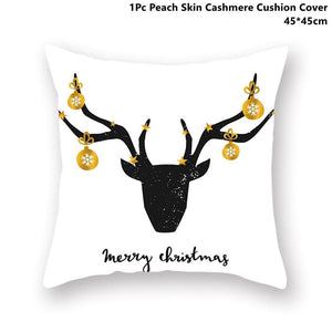 Gold black pillowcase - xmas 38 - 200223143 fast shipping