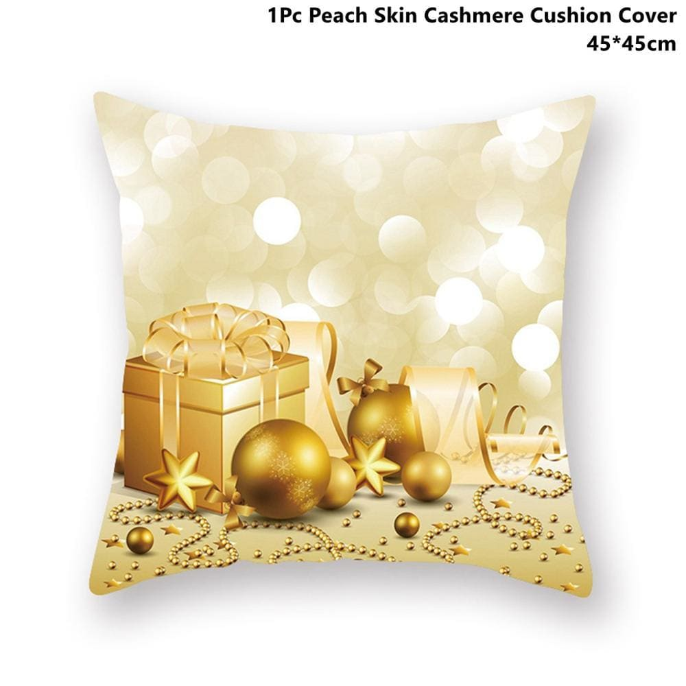 Gold black pillowcase - xmas 43 - 200223143 fast shipping