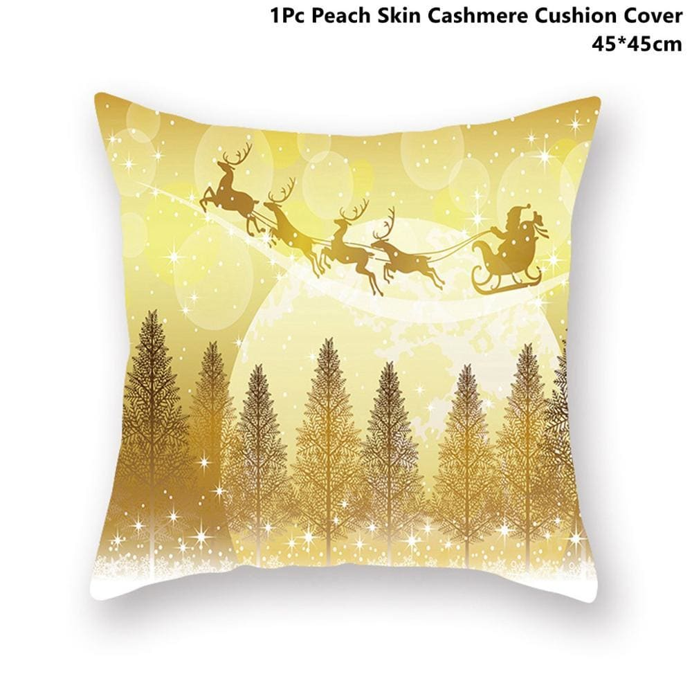 Gold black pillowcase - xmas 44 - 200223143 fast shipping