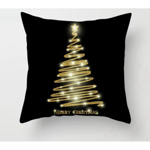 Gold black pillowcase - xmas 5 - 200223143 fast shipping
