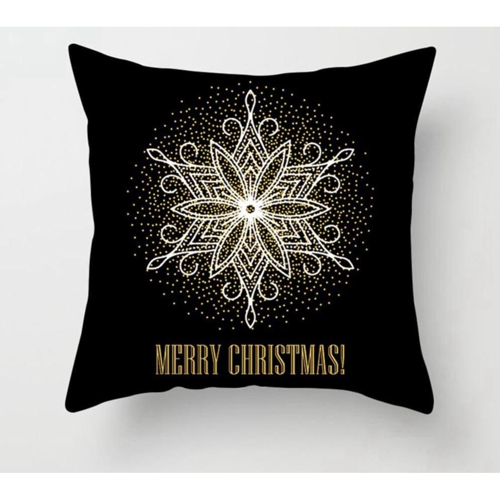 Gold black pillowcase - xmas 6 - 200223143 fast shipping