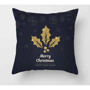Gold black pillowcase - xmas 7 - 200223143 fast shipping