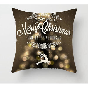 Gold black pillowcase - xmas 9 - 200223143 fast shipping
