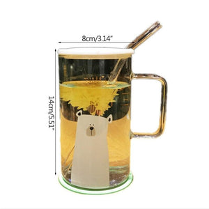 Heat resistant glass coffee mug - cups & mugs