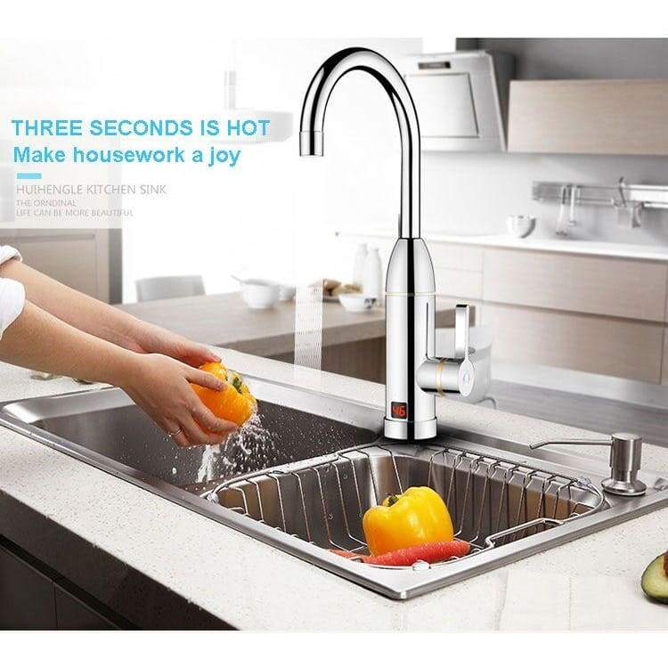 Hot water faucet - home kitchen appliances