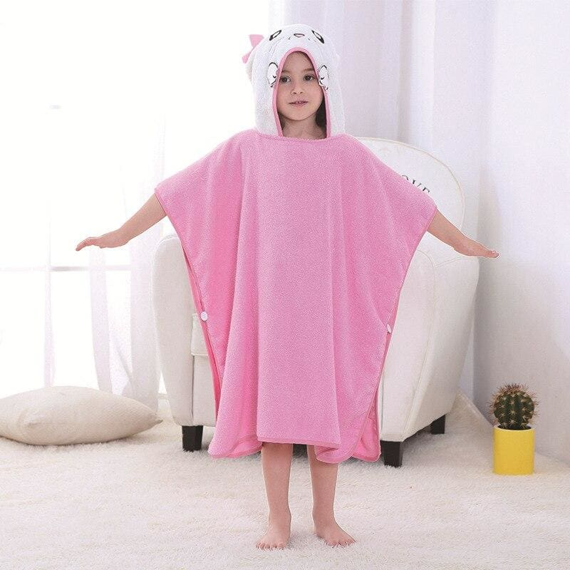 Kids bath towel - cat - baby&toddler clothing
