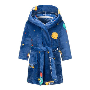 Kids rainbow bathrobe - blue / 3t 90 - baby&toddler clothing