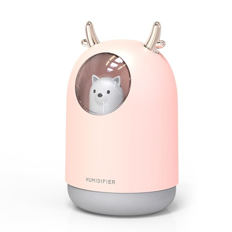 Lamp humidifier led - pink - humidifiers