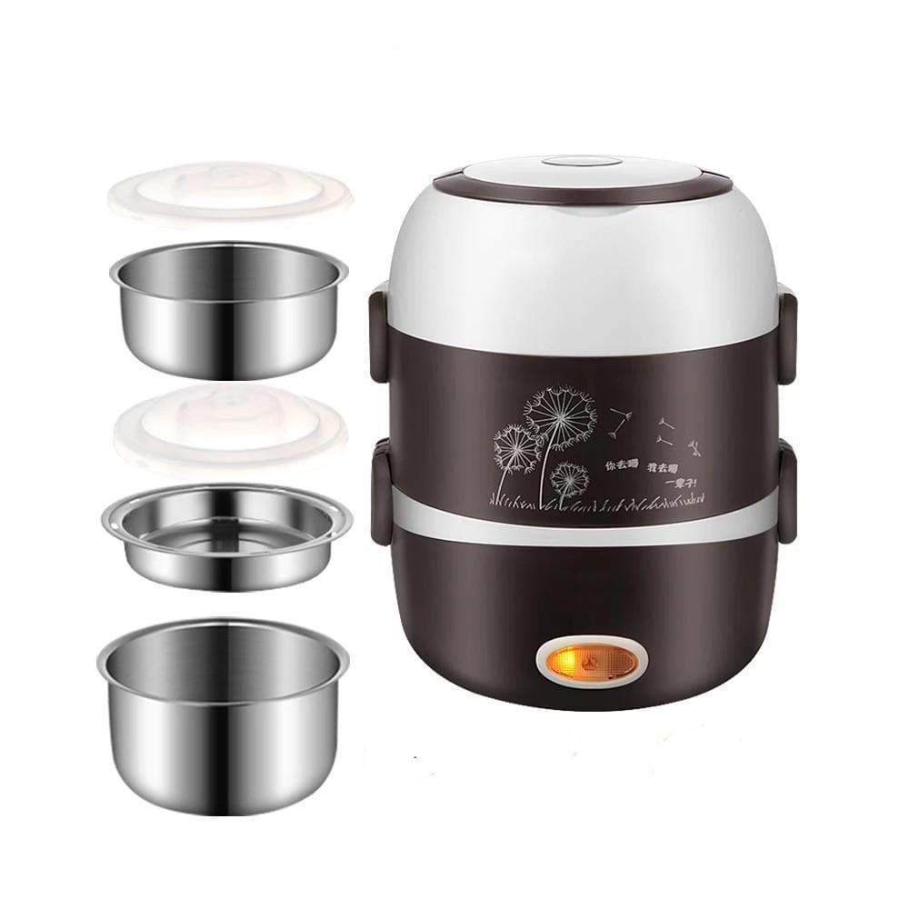Meal cooker lunch box - 3 layers 110v - kitchen appliances 2