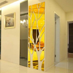 Mural wall sticker - gold / 100x28cm - wall sticker 1
