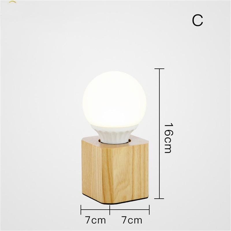 Nordic wood table lamp - b - light lamp2