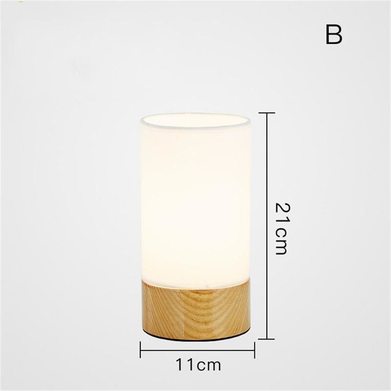 Nordic wood table lamp - c - light lamp2