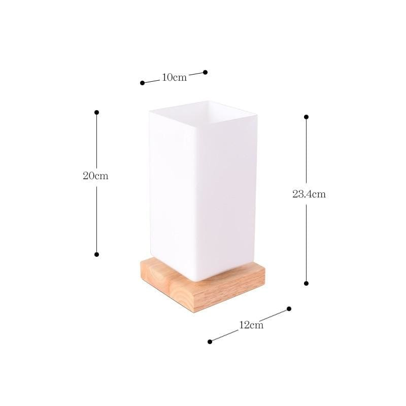 Nordic wood table lamp - d - light lamp2