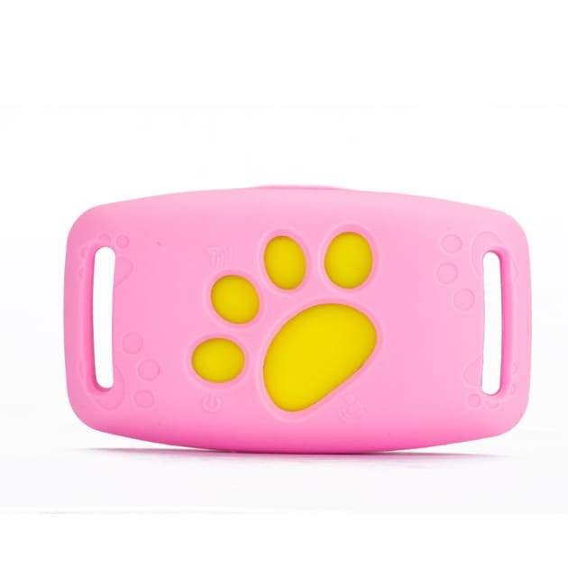Pet collar gps tracker - pink - dog accessories 2