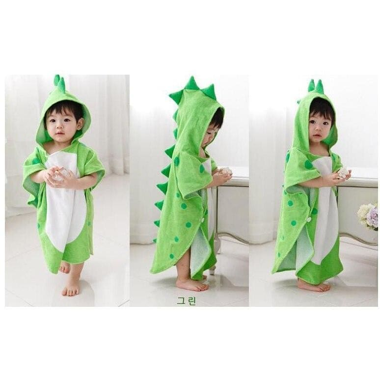 Poncho bath towel - green 115x55cm - baby&toddler clothing