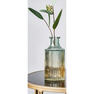 Relief art glass vase - high 14.5cm - home decor 2