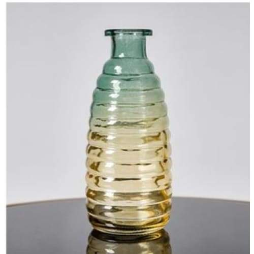 Relief art glass vase - high 15cm - home decor 2