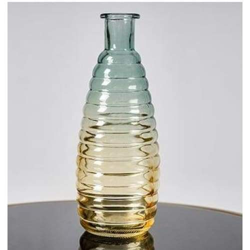 Relief art glass vase - high 19.5cm - home decor 2