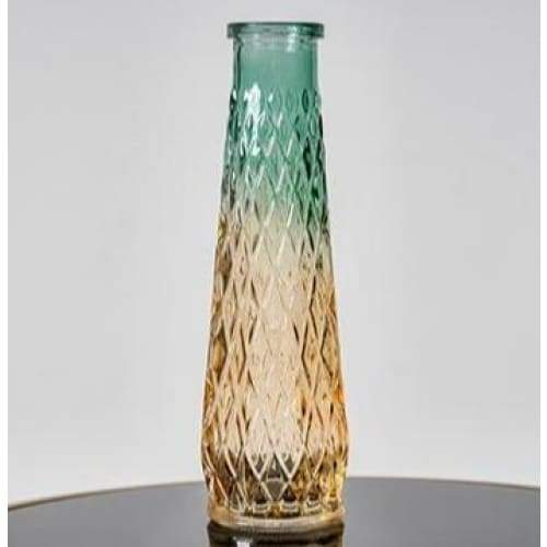 Relief art glass vase - high 22cm - home decor 2