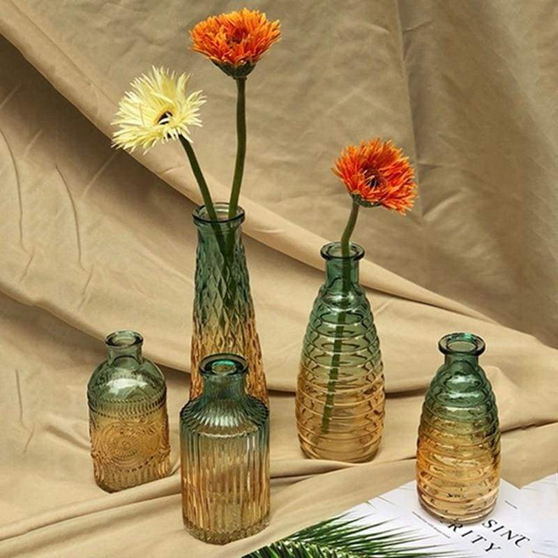 Relief art glass vase - home decor 2