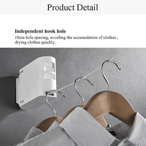 Retractable wall mounted clothes line