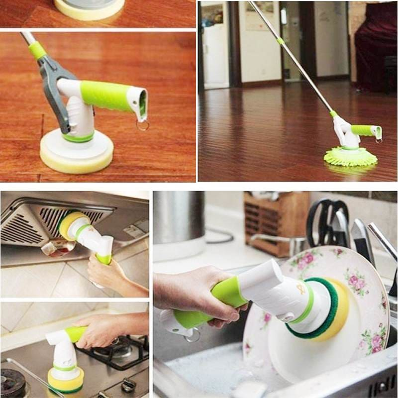 Scrub cleaning brush - smart home