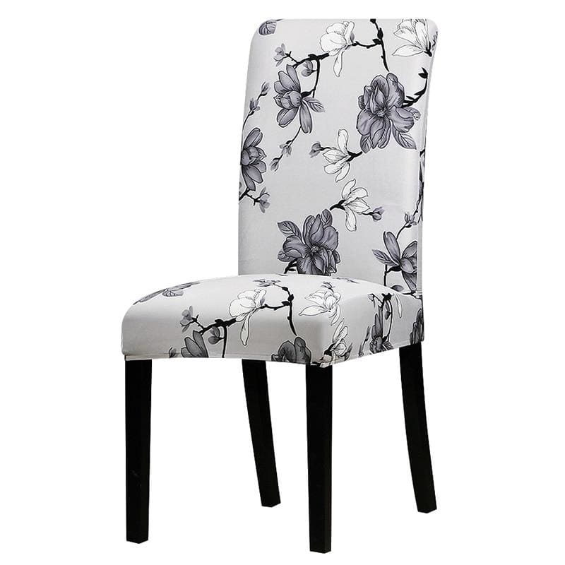 Stretchable printed chair cover - 125844 / universal size -