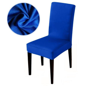 Stretchable printed chair cover - blue / universal size -