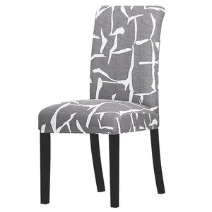 Stretchable printed chair cover - k328-lg / universal size -