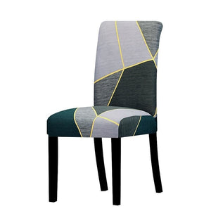 Stretchable printed chair cover - k744 / universal size -