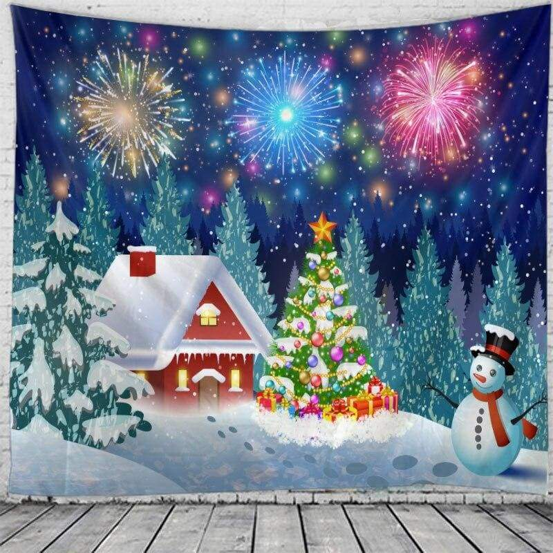 Wall hanging tapestry - black / 230x180cm - christmas