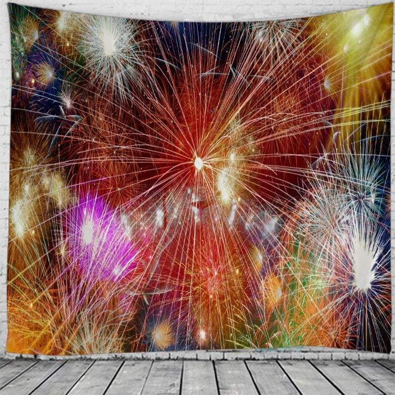 Wall hanging tapestry - blue / 230x180cm - christmas