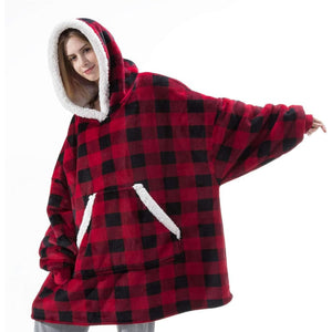 Wearable blanket for all - fur grid - blankets
