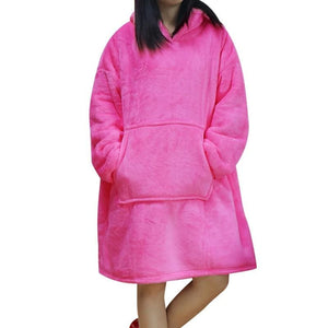 Wearable blanket for all - pink - blankets