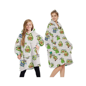 Wearable blankets printed - avocado green / adult