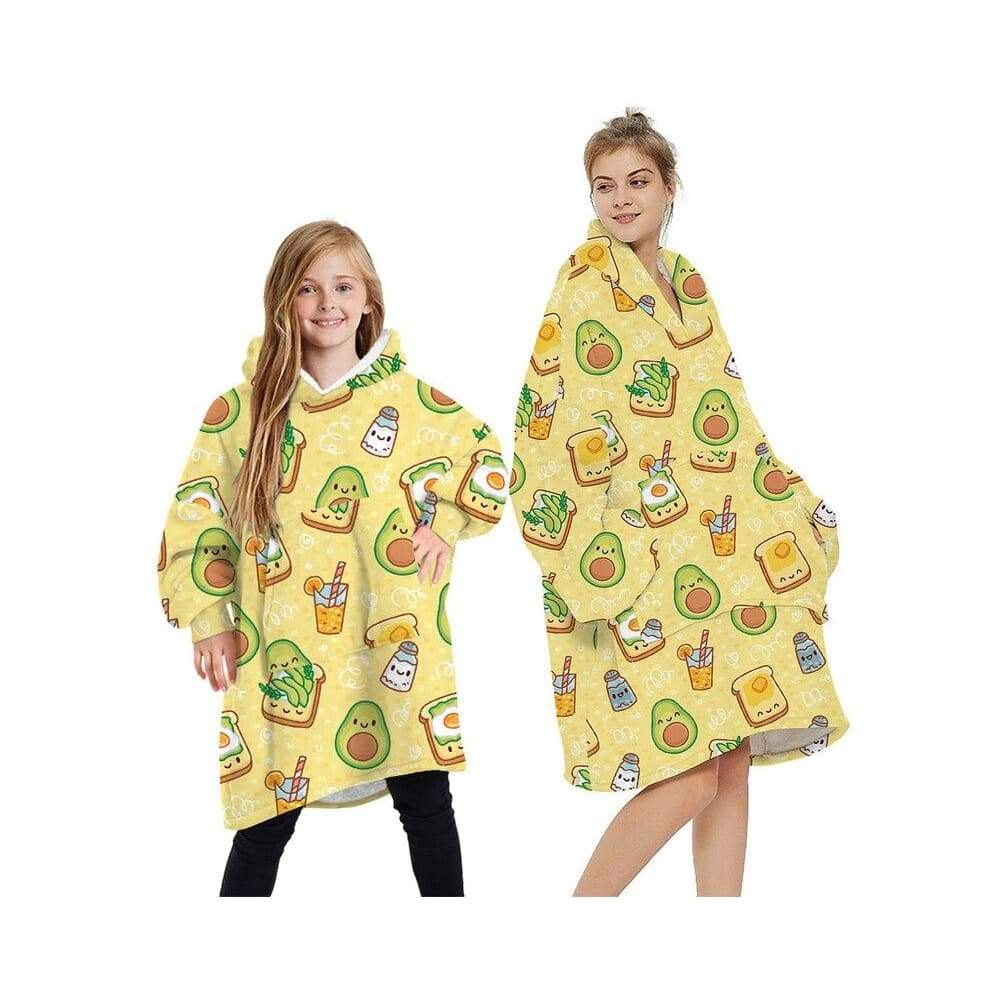 Wearable blankets printed - avocado yellow / kids