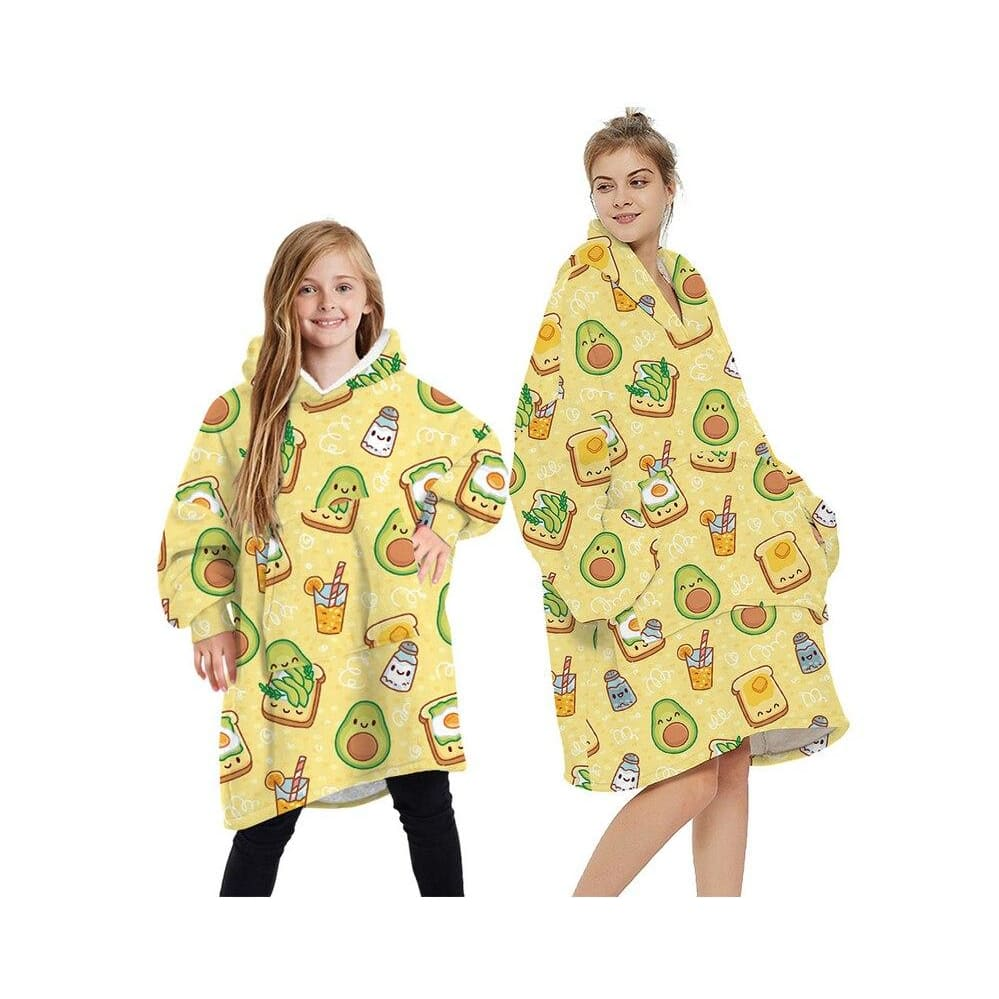 Wearable blankets printed