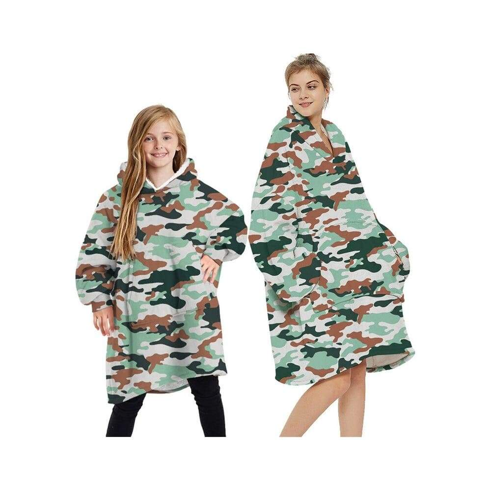 Wearable blankets printed - camouflage / kids