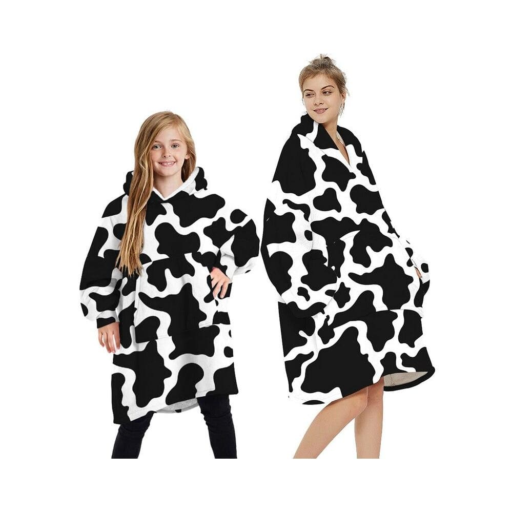 Wearable blankets printed - cow / kids